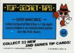 Nintendo Game Pack Series 2 Sticker 64 Back