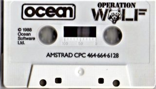 Operation Wolf Amstrad CPC Cassette