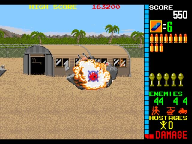 Operation Wolf Arcade - Armoured Vehicle Explosion