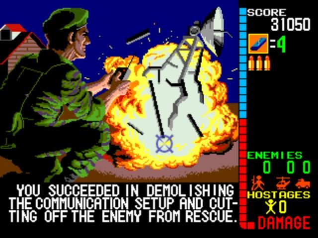 Operation Wolf Arcade - Cut Scene Dialog