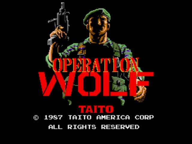 Operation Wolf Arcade - Title Screen
