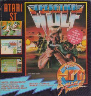 Operation Wolf Atari ST Box