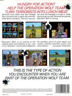 Operation Wolf DOS Box Back