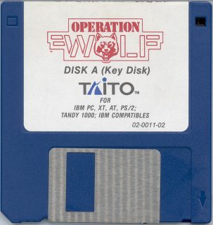 Operation Wolf DOS Disk