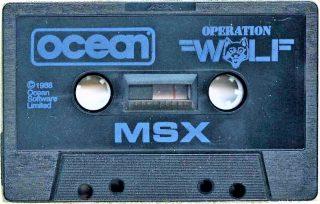Operation Wolf MSX Cassette