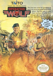 Operation Wolf NES Box