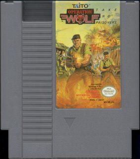 Operation Wolf NES Cartridge