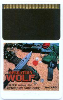 Operation Wolf PC Engine Card