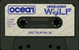 Operation Wolf ZX Spectrum Cassette