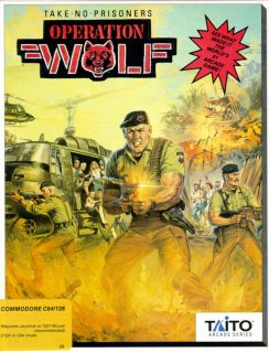 Operation Wolf c64 Box