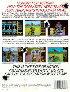 Operation Wolf c64 Box Back