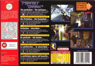 Perfect Dark European N64 Box Back