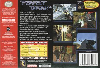 Perfect Dark N64 Box Back