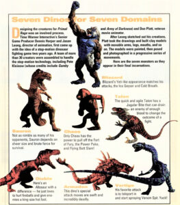 Primal Rage Characters Magazine