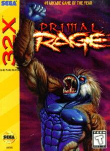 Primal Rage Sega 32X Box