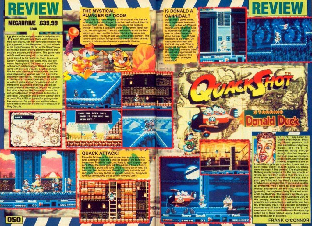 QuackShot Magazine Article