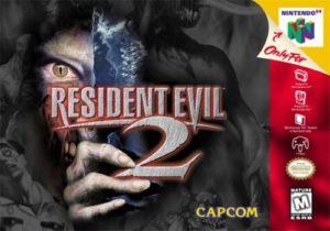 Resident Evil 2 N64 Box