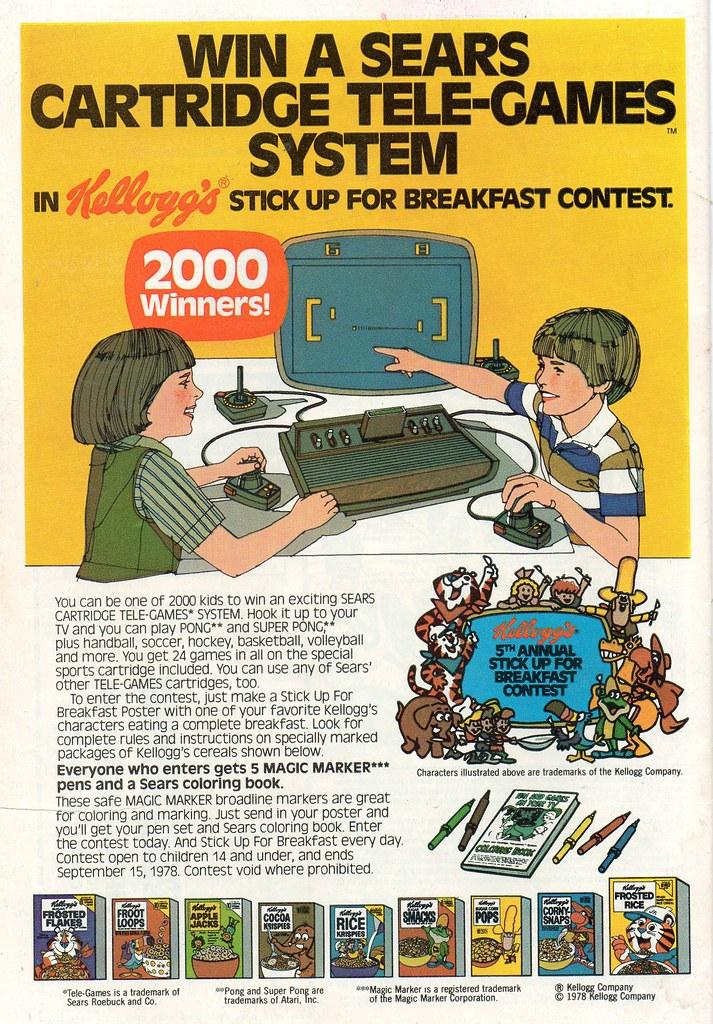 Sears Cartridge Tele-Games System Kellogg's Ad