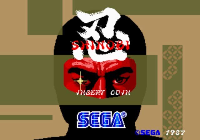 Shinobi - Title Screen