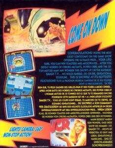 Smash TV Commodore 64 Box Back