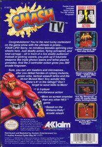 Smash TV NES Box Back