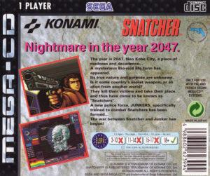 Snatcher Mega CD Box Back
