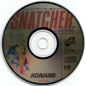 Snatcher PC Engine CD ROM Disc