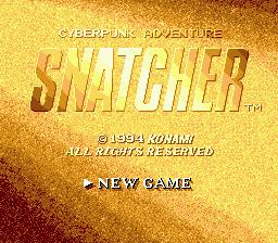 Snatcher Title Screen