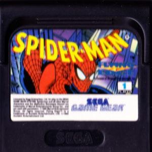 Spider-Man Game Gear Cartridge
