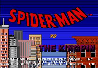 Spider-Man Title Screen