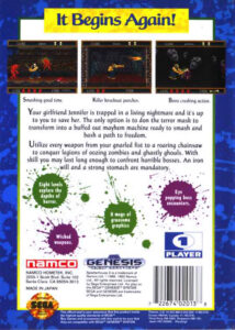 Splatterhouse 2 Box Back