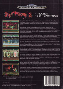 Splatterhouse 2 European Box Back