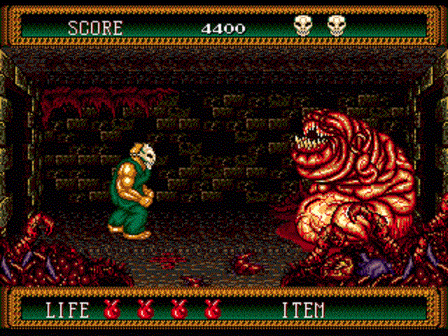 Splatterhouse 2 - Level 1 Boss Battle