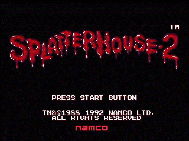 Splatterhouse 2 - Title Screen