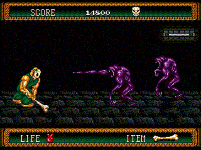 Splatterhouse 2 - Using a Bone as a Weapon