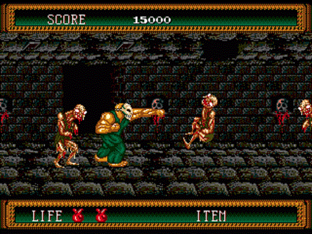 Splatterhouse 2 - Zombies In The Dungeon