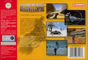 Star Wars - Shadows of the Empire European N64 Box Back