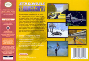 Star Wars - Shadows of the Empire N64 Box Back