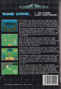 Super League Mega Drive Box Back