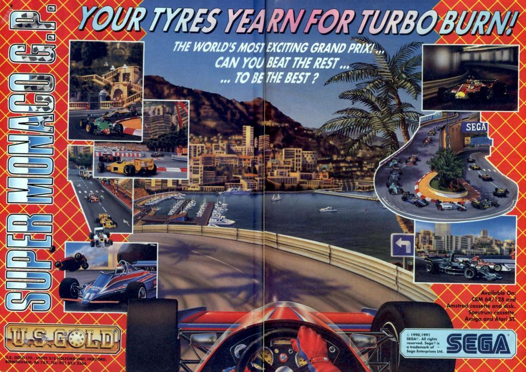 Super Monaco GP Arcade Advertisement 3