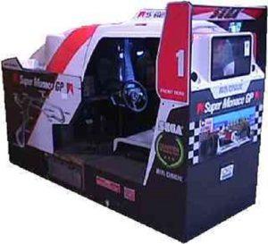Super Monaco GP Arcade Cabinet Back