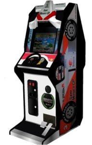 Super Monaco GP Arcade Cabinet Upright Side View