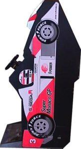 Super Monaco GP Arcade Cabinet Upright Side View 2