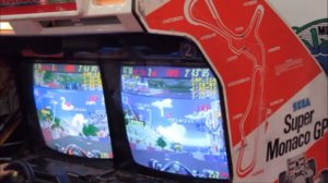 Super Monaco GP Arcade Multiplayer Cabinet Screens