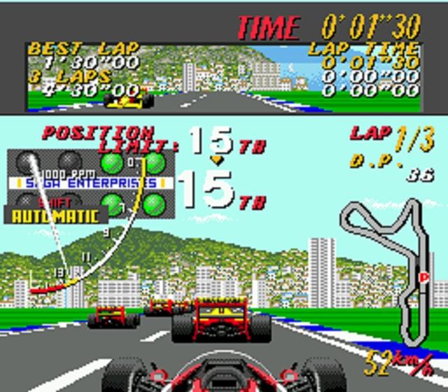 Super Monaco GP Starting In 15th Place