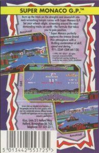 Super Monaco GP ZX Spectrum Box Back