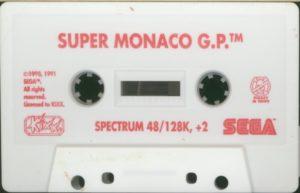Super Monaco GP ZX Spectrum Cassette Tape