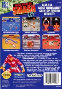 Super Smash TV Genesis Box Back