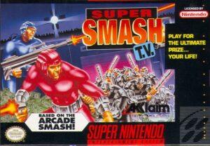 Super Smash TV SNES Box