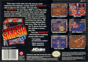 Super Smash TV SNES Box Back
